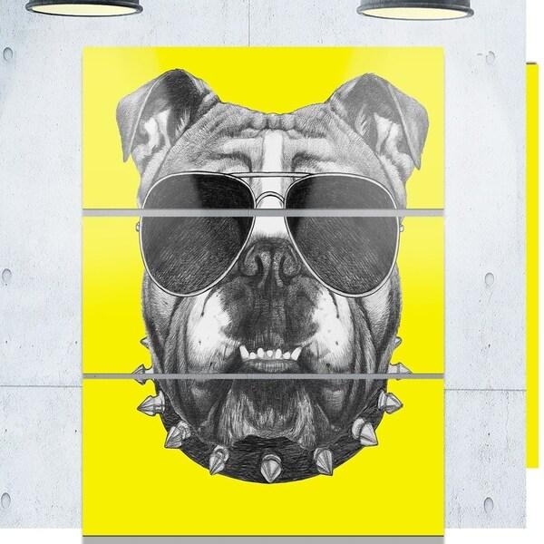 Phase1 Designart \'Funny English Bulldog with Collar\' Contemporary ...