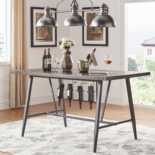 Link to Harley Counter Height Dining Table with Wine Rack by iNSPIRE Q Modern - Black Similar Items in Dining Room & Bar Furniture
