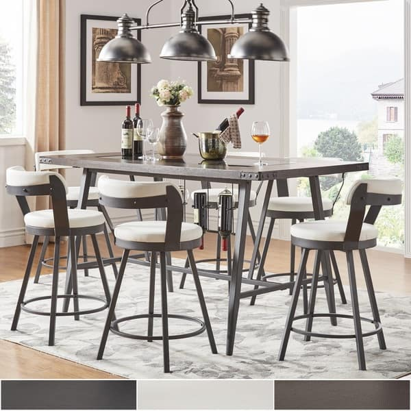 Modern Glass Counter Height Dining Set For 10