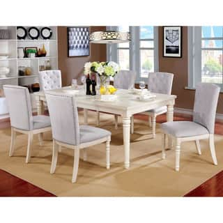 Furniture of America Gorgenli Classic 7-piece Vintage White Dining Set|https://ak1.ostkcdn.com/images/products/18749767/P24821786.jpg?impolicy=medium
