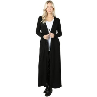 JED Women's Long Sleeve Maxi Knit Cardigan with Side Pockets