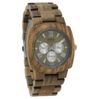 Dakota Mens Green Sandalwood Wood Watch with Link Band