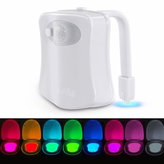 LED Motion Activated Toilet Bowl Light 8 Color Toilet Night Light