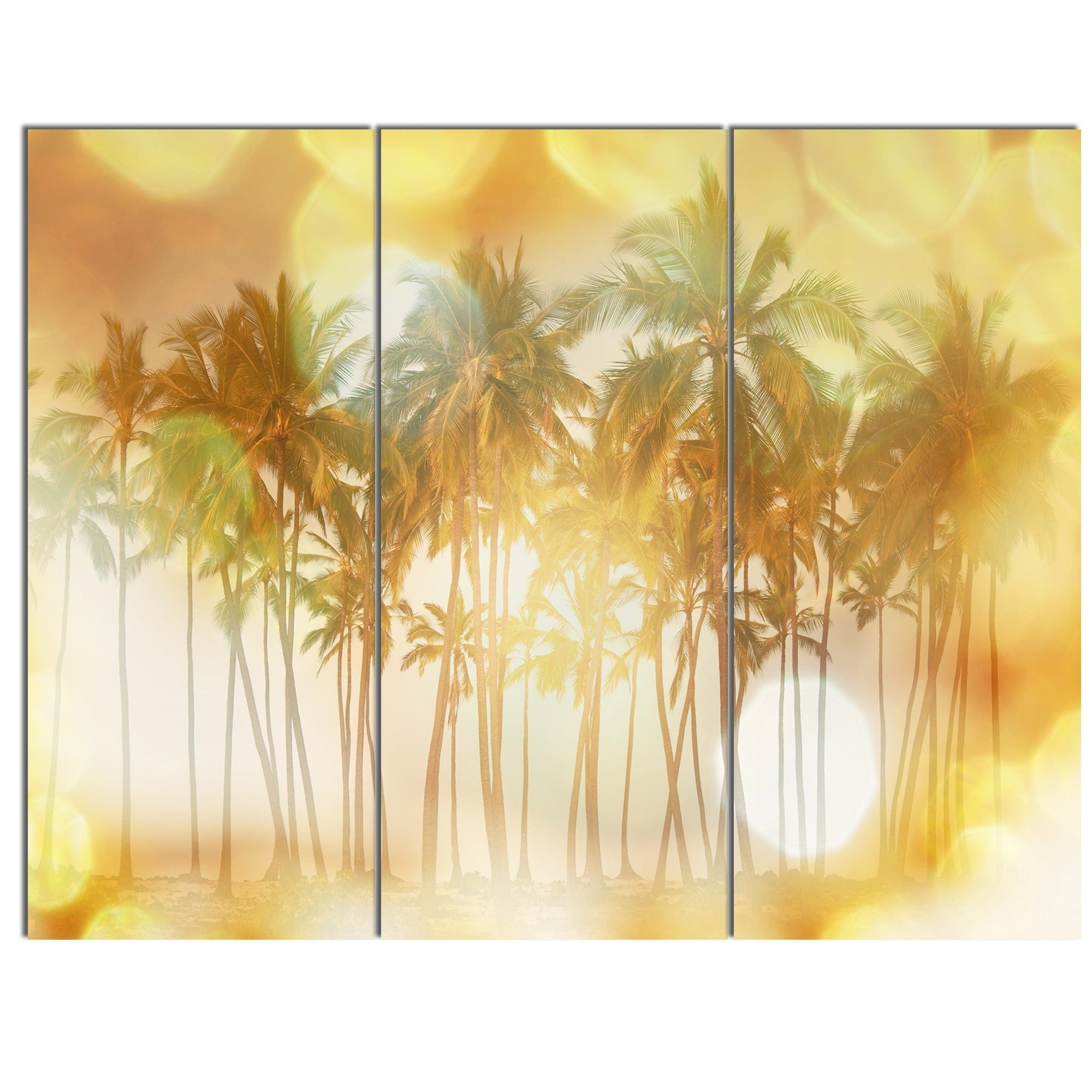 Lovely Metal Palm Wall Decor Contemporary - The Wall Art ...