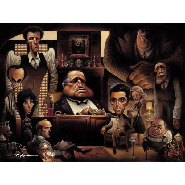 LaFamiglia  A Tribute to the Godfather Giclée Unframed Print by O'keefe  Prints