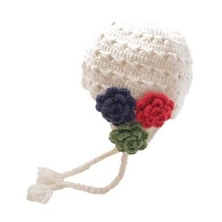 Crochet 3 Flower Earflap