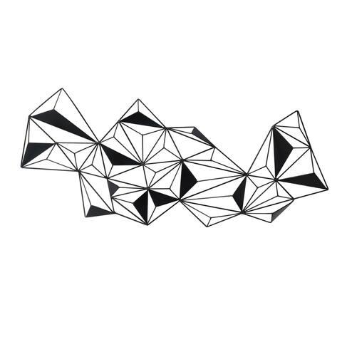 Aurelle Home Geometric Metal Wall Decor
