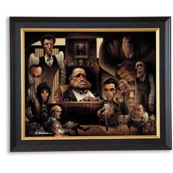 LaFamiglia  A Tribute to the Godfather Giclée Framed Print by O'keefe Prints