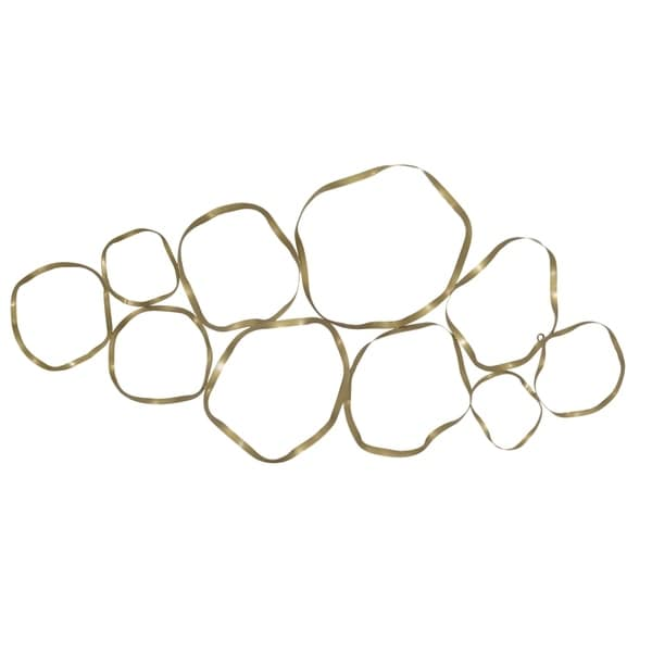 Aurelle Home Euclid Gold Metal Wall Art