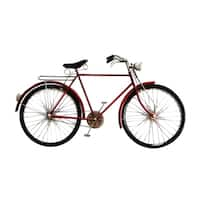 Aurelle Home Red Iron Bike Wall Decor