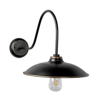 Y-Decor Riley 1 Light Exterior Wall light in Imperial Black