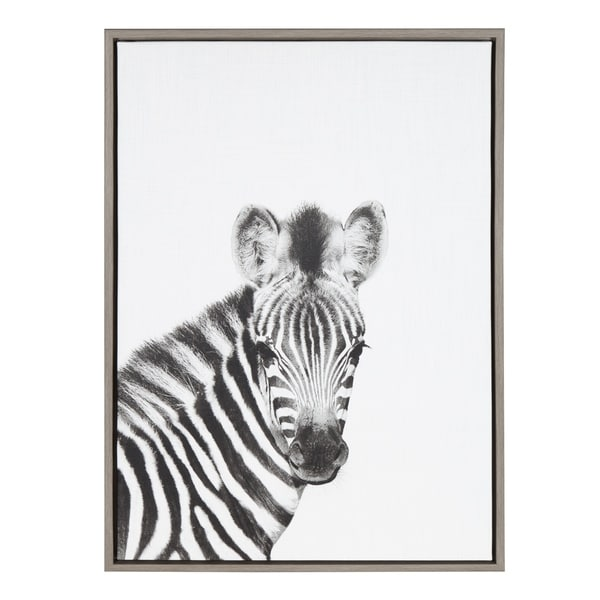 Shop Kate And Laurel Sylvie Baby Zebra Black And White