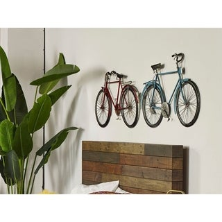 Aurelle Home Cruiser Blue Iron Bike Wall Decor