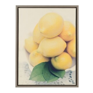 Sylvie Lemons 18x24 Gray Framed Canvas Wall Art by F2 Images