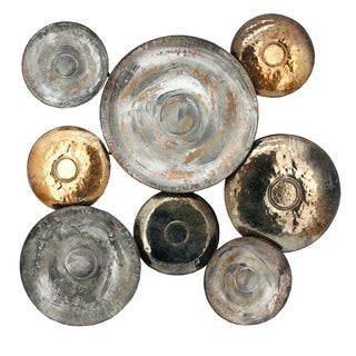 Aurelle Home Disc Multi Metal Wall Decor