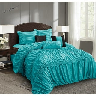 Everrouge Mia All Season Silk 7-piece Comforter Set