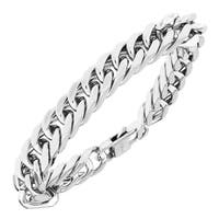 Mens Stainless Steel Cuban Link Bracelet