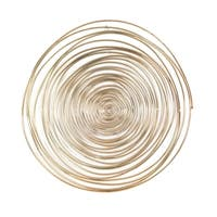 Aurelle Home Spirals Gold Metal Wall Art