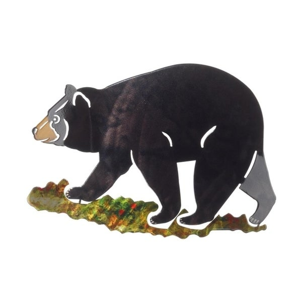 Shop Next Innovations Small Black Bear Steel Wall Art - Free ...