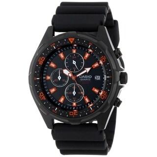Casio Men's AMW-370B-1A1V 'Classic' Chronograph Black Rubber Watch