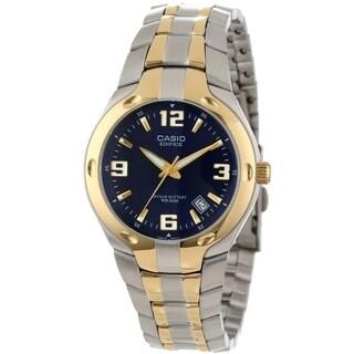 Casio Men's EF-106SG-2AV 'Classic' Two-Tone Stainless Steel Watch - Blue