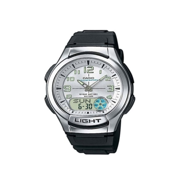 Shop Casio Men's AQ-180W-7BV 'Ana-Digi' Analog-Digital ...