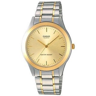 Casio Men's MTP-1128G-9A 'Classic' Two-Tone Stainless Steel Watch - Gold-tone