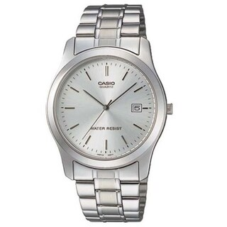Casio Men's MTP-1141A-7A 'Classic' Stainless Steel Watch - WHITE