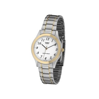 Casio Men's MTP-1128G-7B 'Classic' Two-Tone Stainless Steel Watch - White