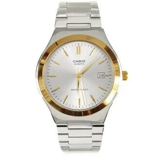 Casio Men's MTP-1170G-7A 'Dress' Stainless Steel Watch - Silver