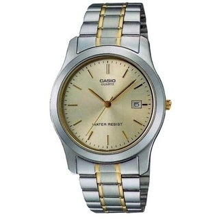 Casio Men's MTP-1141G-9A 'Classic' Two-Tone Stainless Steel Watch - Gold-tone