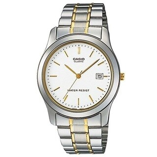 Casio Men's MTP-1141G-7A 'Classic' Two-Tone Stainless Steel Watch - White
