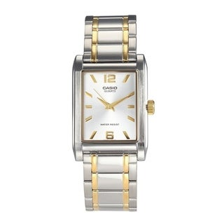 Casio Men's MTP-1235SG-7A 'Quartz' Two-Tone Stainless Steel Watch - White