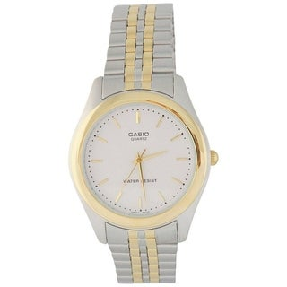 Casio Men's MTP-1129G-7A 'Classic' Two-Tone Stainless Steel Watch - White