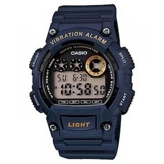 Casio Men's 'Classic' Digital Blue Rubber Watch - Black