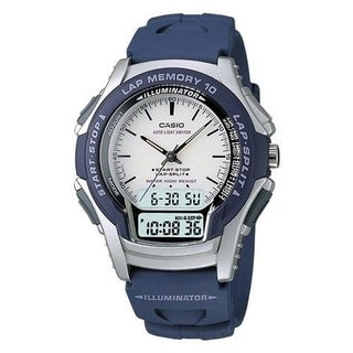 Casio Men's WS-300-2EV 'Classic' Digital Blue Rubber Watch - Black