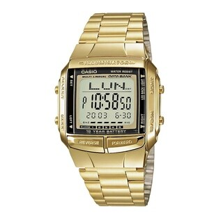 Casio Men's Digital Gold-Tone Stainless Steel Watch - CLEAR