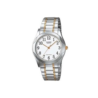 Casio Men's MTP-1275SG-7B 'Quartz' Two-Tone Stainless Steel Watch - White