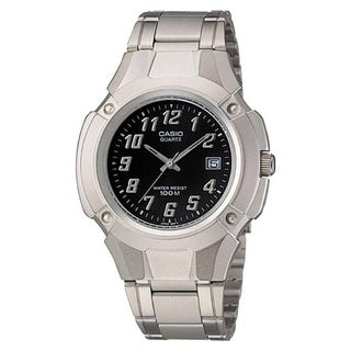 Casio Men's MTP-3036A-1AV 'Quartz' Stainless Steel Watch - Black