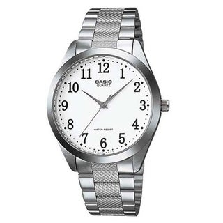 Casio Men's MTP-1274D-7B 'Classic' Stainless Steel Watch - White