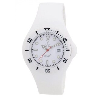 Toy Watch Unisex JY01WH 'Jelly' White Silicone Watch