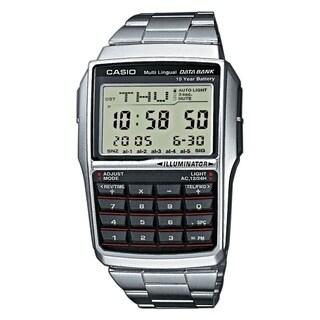 Casio Men's DBC32D-1 'Databank' Digital Stainless Steel Watch - grey