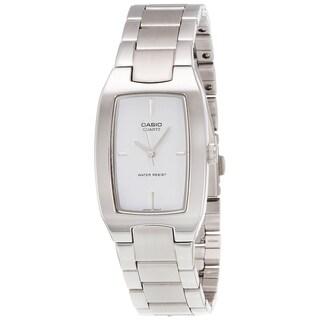 Casio Men's MTP-1165A-7C 'Quartz' Stainless Steel Watch - White