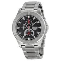 Seiko Men's SPC095 Chronograph Stainless Steel Watch - Black