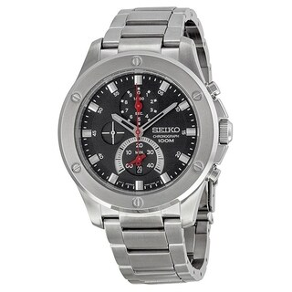 Seiko Men's SPC095 Chronograph Stainless Steel Watch - Black