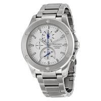 Seiko Men's SPC091 Chronograph Stainless Steel Watch - White