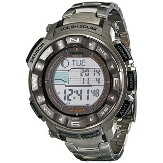 Casio Men's PRW2500T-7C 'Pathfinder' Digital Grey Titanium Watch - Black
