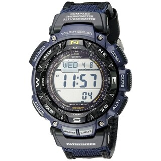 Casio Men's PAG240B-2 'G-Shock Pathfinder' Digital Blue Nylot Watch - CLEAR