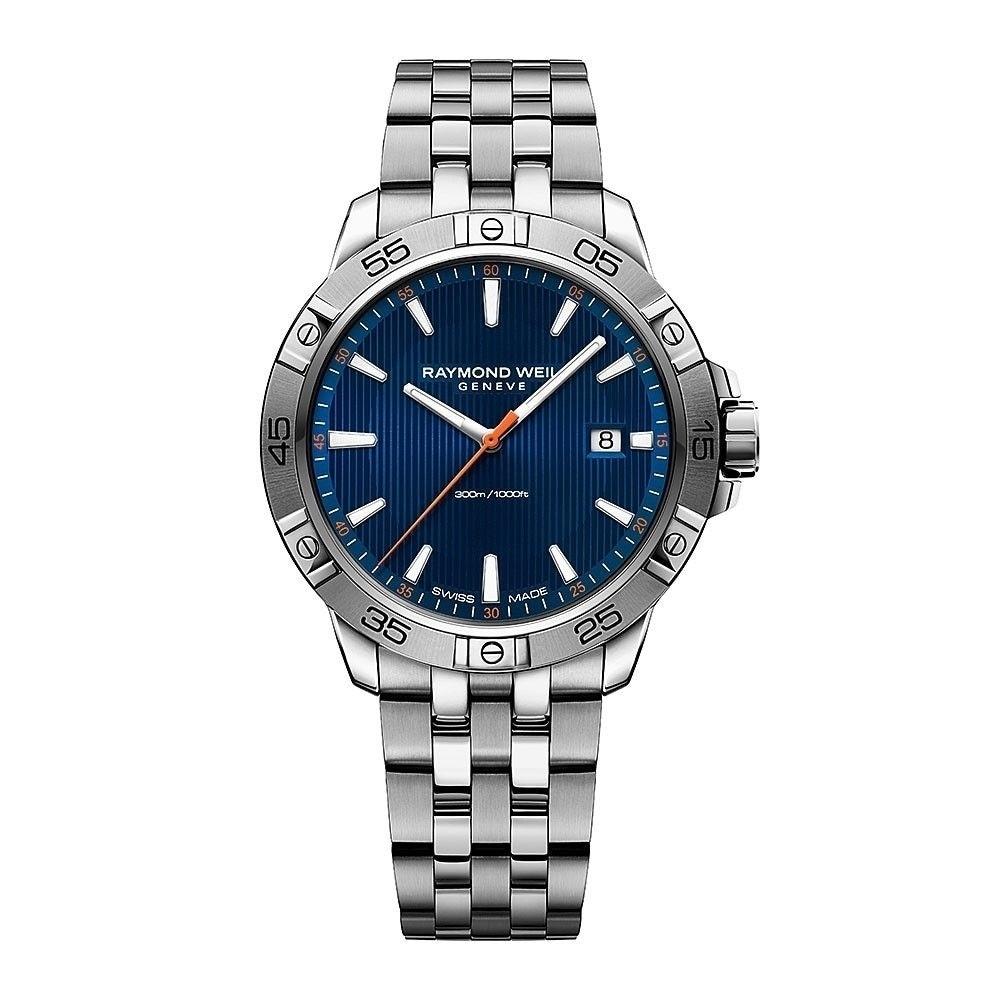 Raymond Weil Men's 8160-ST2-50001 'Tango' Stainless Steel Watch - BLue