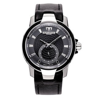 TechnoMarine Women's 'UF6' Black Leather Watch
